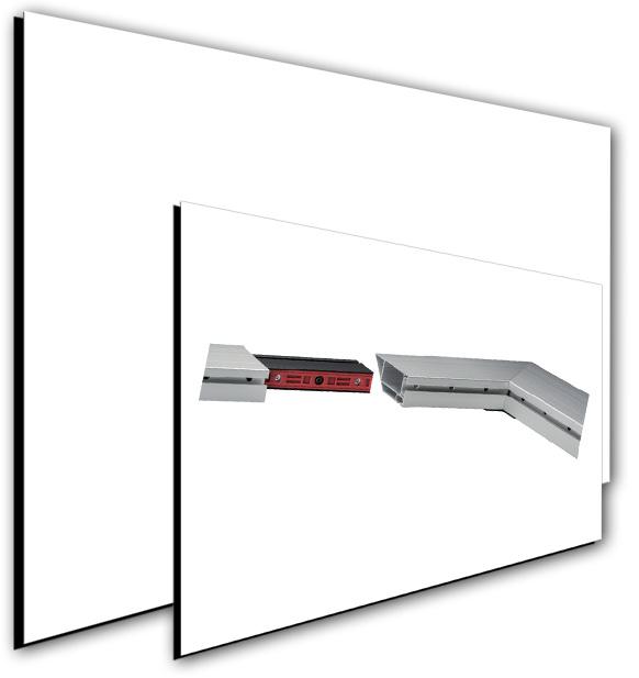 Fullwhite randlose Leinwand-System Rahmenleinwand