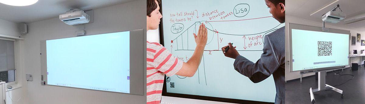Interaktive Lösungen Beamer Leinwand Display Touch Stift