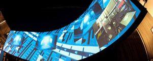 Leinwand Museum, Simulation, Panorama, gebogen, Curv,